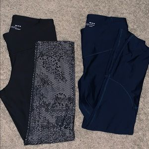 Two pairs of Under Armour Cropped Leggings